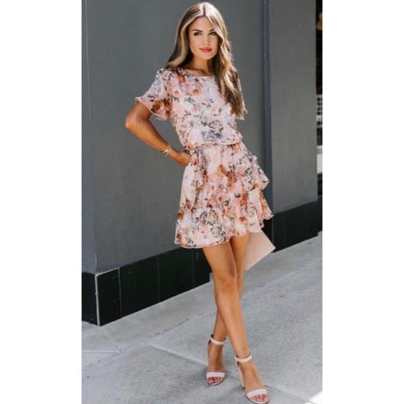 COPY - VICI Mauve floral dress